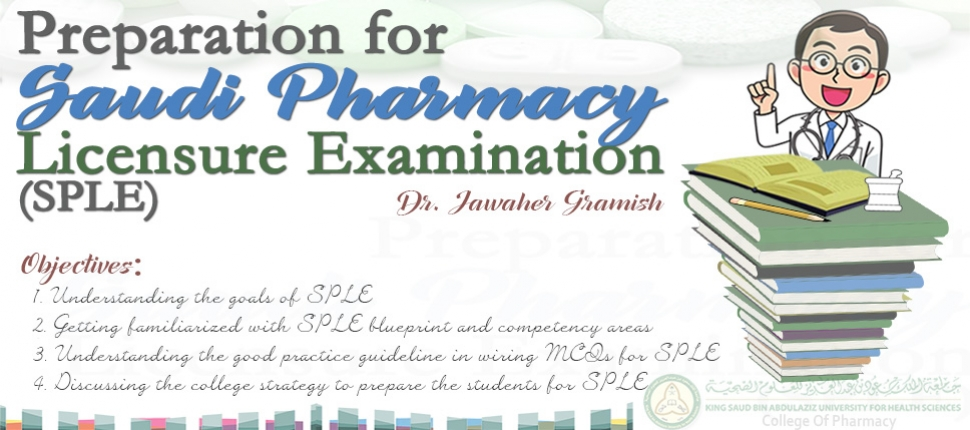Preparation for Saudi Pharmacy Licensure Examination (SPLE), 071118