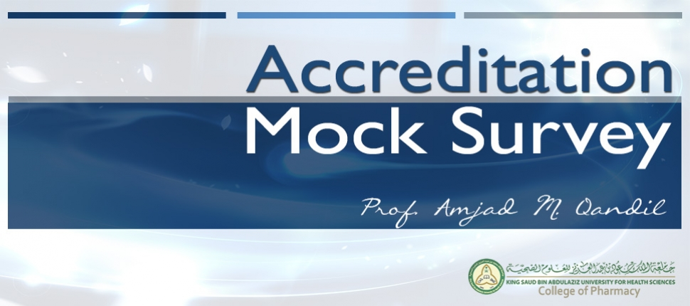 Accreditation Mock Survey Workshop, 121118